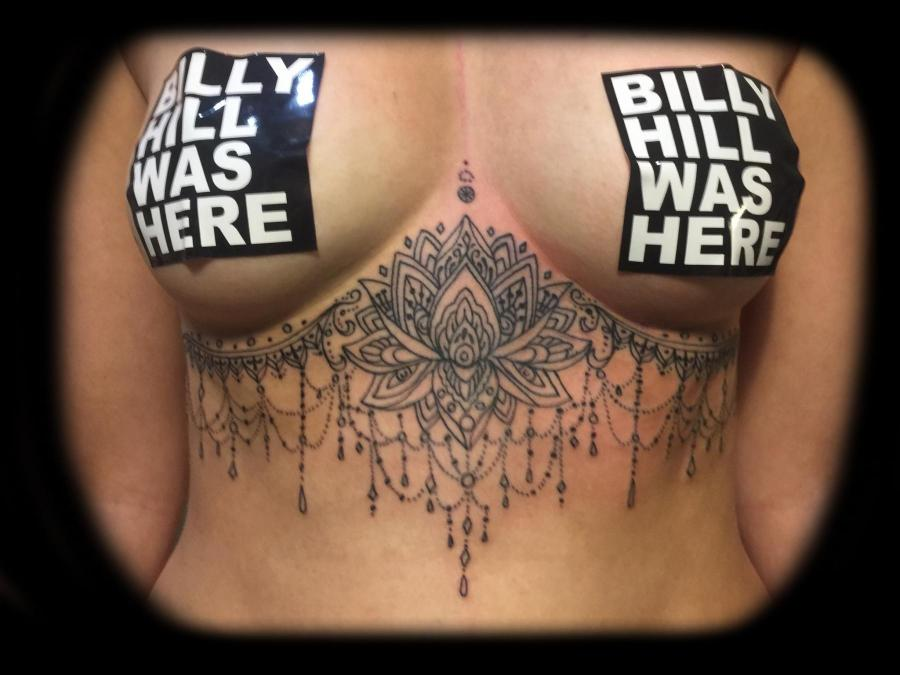 Tattoo Columbus Ohio Billy Hill - Tattoo Underboob Mandala