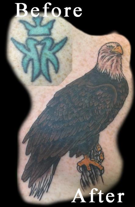 Tattoo Columbus Ohio Billy Hill - Tattoo Eagle Cover Up