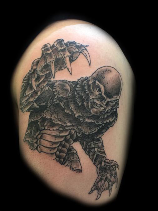 Tattoo Columbus Ohio Billy Hill - Tattoo Creature from the Black Lagoon