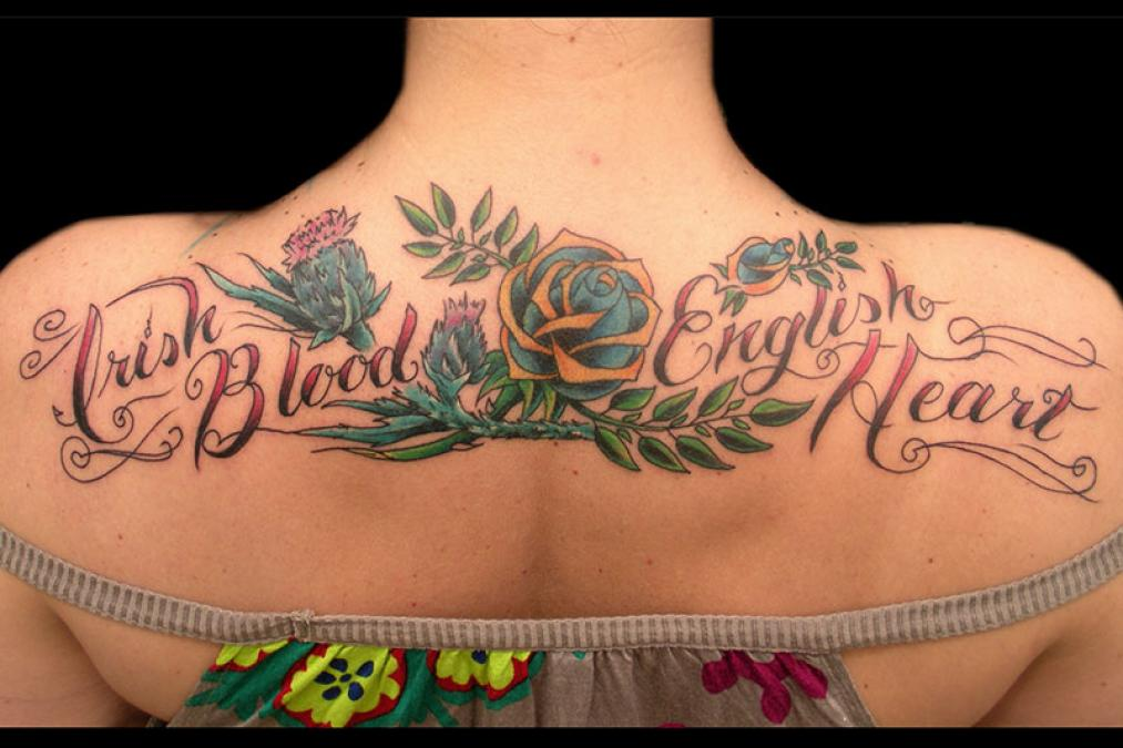 Tattoo Columbus Ohio Billy Hill - Tattoo Irish Blood English Heart