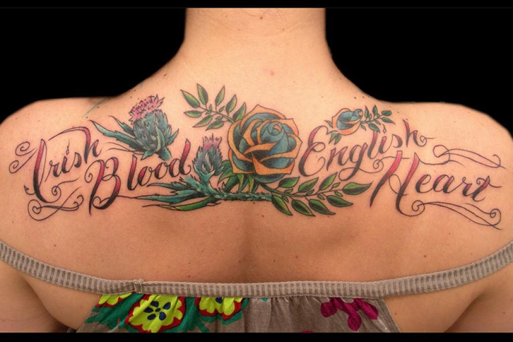 Tattoo Columbus Ohio Billy Hill - Tattoo Irish Blood English Heart