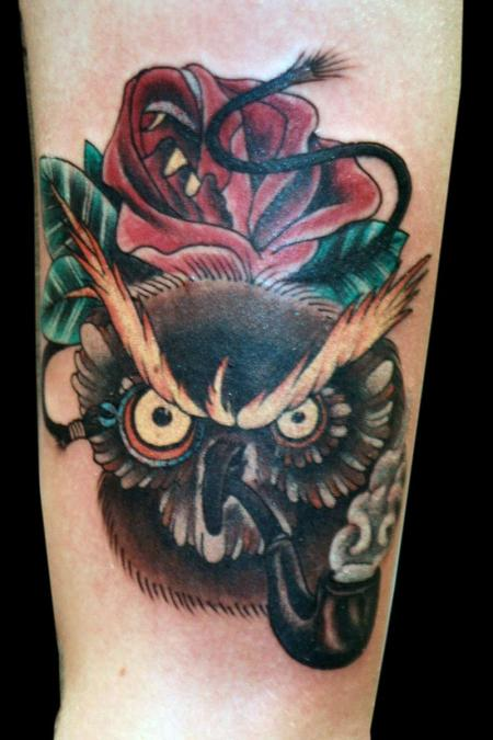 Tattoo Columbus Ohio Billy Hill - Tattoo Owl