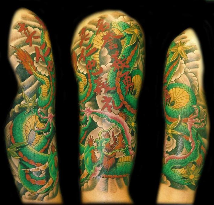 Tattoo Columbus Ohio Billy Hill - Tattoo Fall Dragon