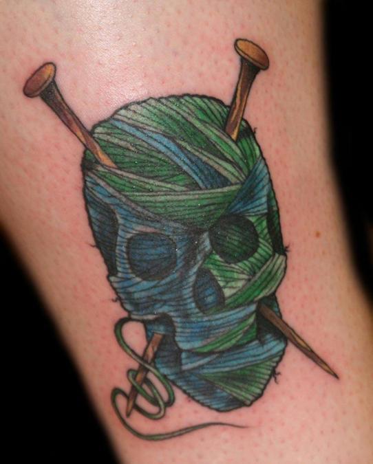 Tattoo Columbus Ohio Billy Hill - Tattoo  Knittings Skull