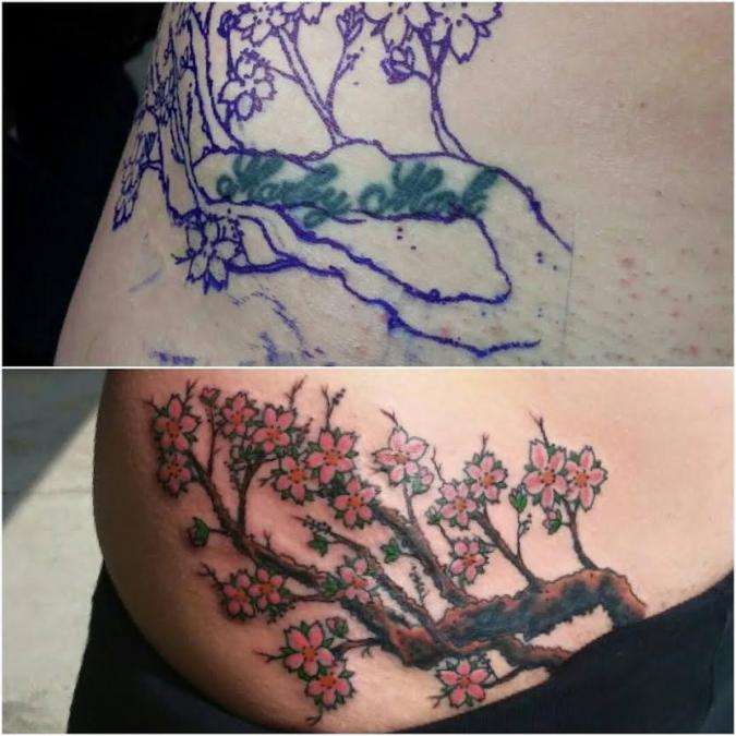 Tattoo Columbus Ohio Curtis Shepherd - Tattoo with Tree Branch
