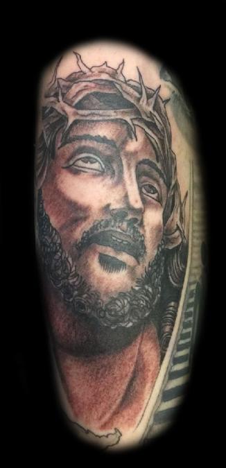 Tattoo Columbus Ohio Billy Hill - Tattoo Jesus Portrait