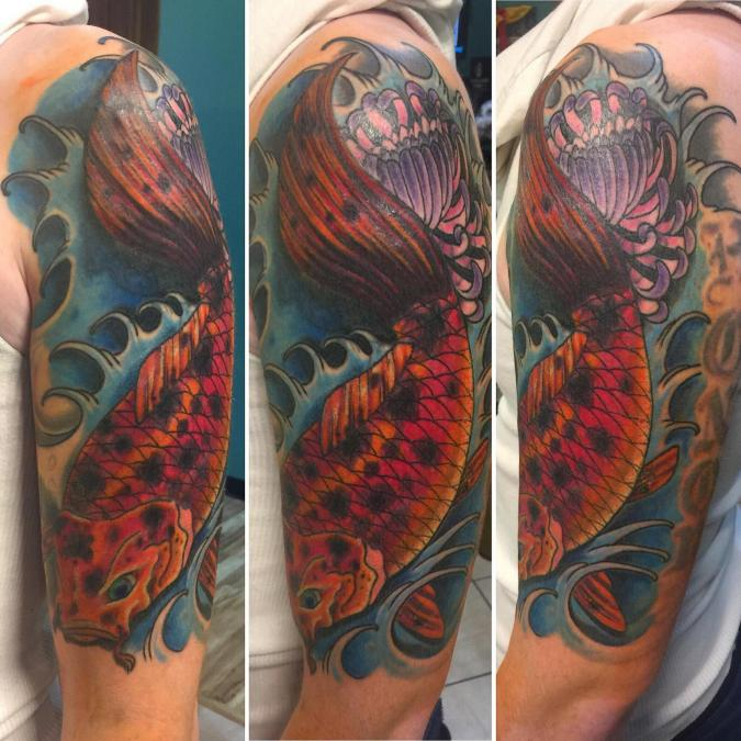 Cover up/re-worked tattoo by Billy Hill in Columbus,OH.
